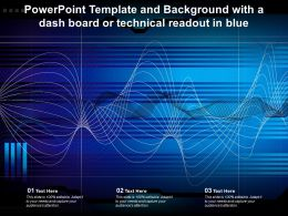 Powerpoint Template And Background With A Dash Board Or Technical Readout In Blue