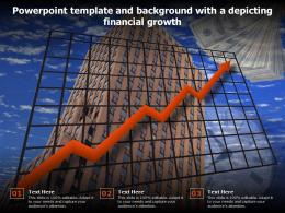 Powerpoint Template And Background With A Depicting Financial Growth