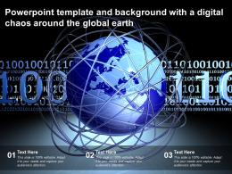 Powerpoint Template And Background With A Digital Chaos Around The Global Earth