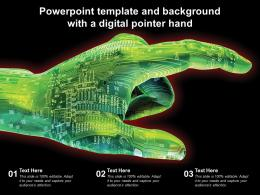 Powerpoint Template And Background With A Digital Pointer Hand