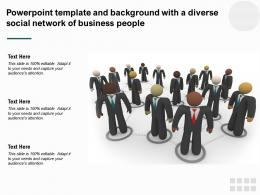 Powerpoint Template And Background With A Diverse Social Network Of Business People