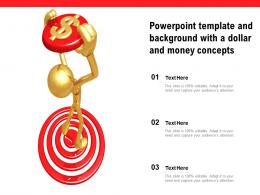 Powerpoint Template And Background With A Dollar And Money Concepts