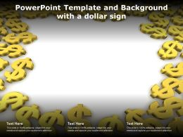 Powerpoint Template And Background With A Dollar Sign