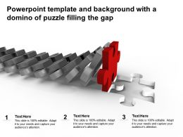 Powerpoint Template And Background With A Domino Of Puzzle Filling The Gap