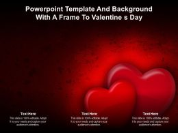 Powerpoint Template And Background With A Frame To Valentine S Day