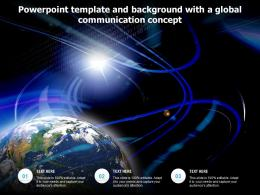 Powerpoint Template And Background With A Global Communication Concept