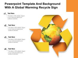 Powerpoint Template And Background With A Global Warming Recycle Sign