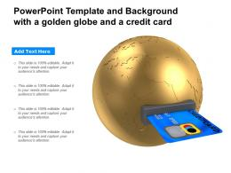 Powerpoint Template And Background With A Golden Globe And A Credit Card