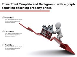 Powerpoint Template And Background With A Graph Depicting Declining Property Prices