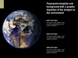 Powerpoint Template And Background With A Graphic Depiction Of The Dangers To The Environment
