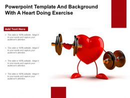 Powerpoint Template And Background With A Heart Doing Exercise