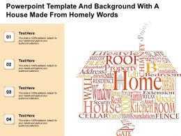 Powerpoint Template And Background With A House Made From Homely Words