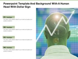 Powerpoint Template And Background With A Human Head With Dollar Sign