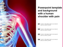 Powerpoint Template And Background With A Human Shoulder With Pain