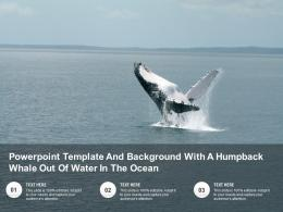 Powerpoint Template And Background With A Humpback Whale Out Of Water In The Ocean