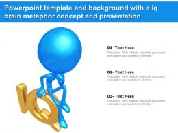 Powerpoint Template And Background With A Iq Brain Metaphor Concept And Presentation