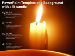 Powerpoint Template And Background With A Lit Candle