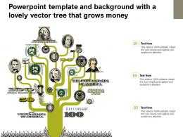 Powerpoint Template And Background With A Lovely Vector Tree That Grows Money