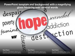 Powerpoint Template And Background With A Magnifying Glass Hovering Over Several Words