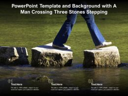Powerpoint Template And Background With A Man Crossing Three Stones Stepping