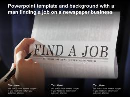 Powerpoint Template And Background With A Man Finding A Job On A Newspaper Business