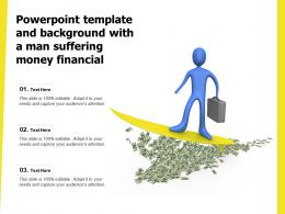 Powerpoint Template And Background With A Man Suffering Money Financial