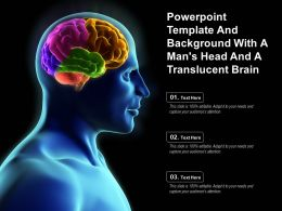 Powerpoint Template And Background With A Mans Head And A Translucent Brain