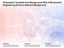 Powerpoint Template And Background With A Mechanical Engineering Science Abstract Background