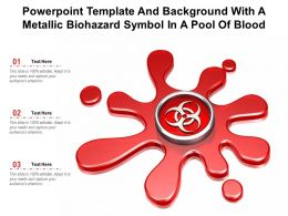 Powerpoint Template And Background With A Metallic Biohazard Symbol In A Pool Of Blood