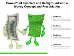 Powerpoint Template And Background With A Money Concept And Presentation