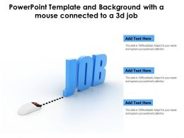 Powerpoint Template And Background With A Mouse Connected To A 3d Job