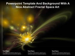Powerpoint Template And Background With A Nice Abstract Fractal Space Art