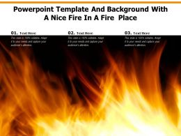 Powerpoint Template And Background With A Nice Fire In A Fire Place