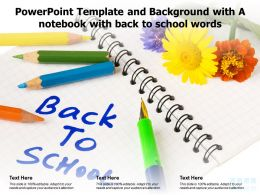 Powerpoint Template And Background With A Notebook With Back To School Words