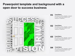 Powerpoint Template And Background With A Open Door To Success Business