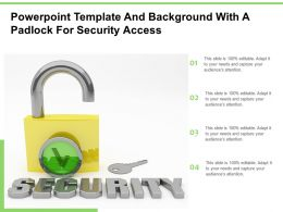 Powerpoint Template And Background With A Padlock For Security Access