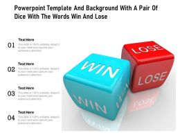 Powerpoint Template And Background With A Pair Of Dice With The Words Win And Lose