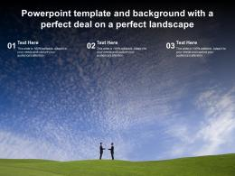 Powerpoint Template And Background With A Perfect Deal On A Perfect Landscape