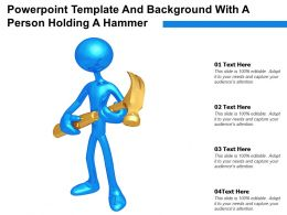 Powerpoint Template And Background With A Person Holding A Hammer