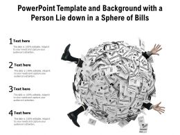 Powerpoint Template And Background With A Person Lie Down In A Sphere Of Bills