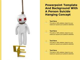 Powerpoint Template And Background With A Person Suicide Hanging Concept