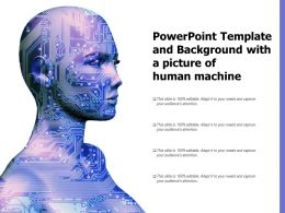 Powerpoint Template And Background With A Picture Of Human Machine