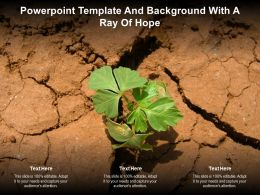 Powerpoint Template And Background With A Ray Of Hope