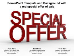 Powerpoint Template And Background With A Red Special Offer Of Sale