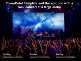 Powerpoint Template And Background With A Rock Concert At A Large Arena