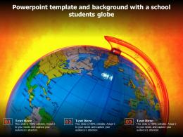 Powerpoint Template And Background With A School Students Globe