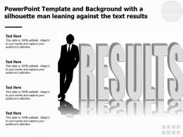 Powerpoint Template And Background With A Silhouette Man Leaning Against The Text Results