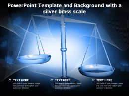 Powerpoint Template And Background With A Silver Brass Scale