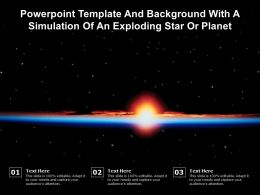 Powerpoint Template And Background With A Simulation Of An Exploding Star Or Planet
