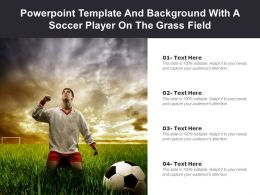Powerpoint Template And Background With A Soccer Player On The Grass Field